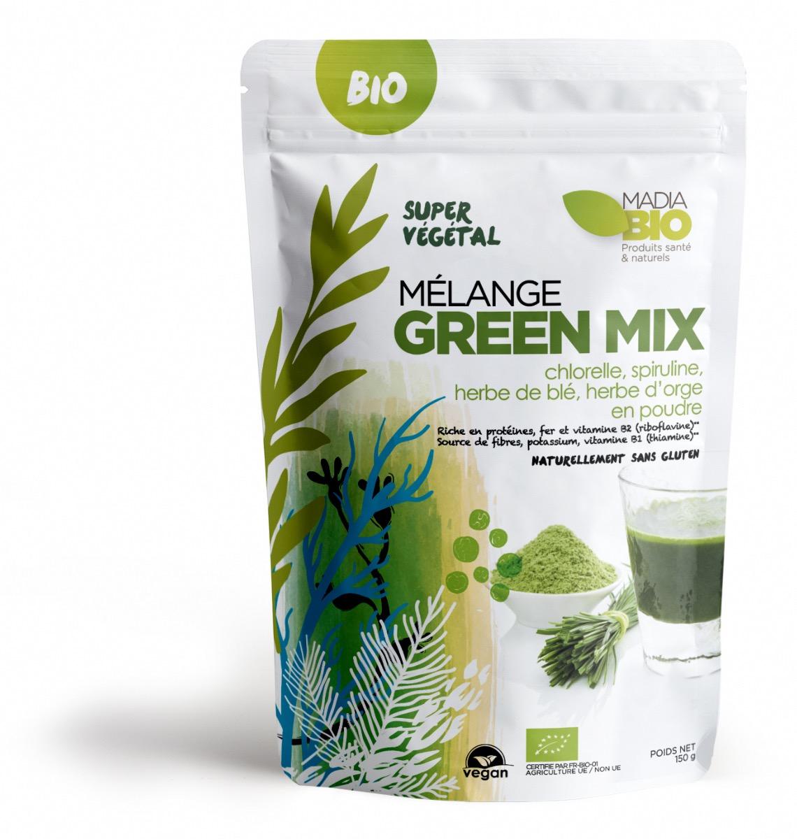 d0f0739f2ed Mélange Green Mix Bio - 150g - Madia Bio