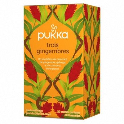 Infusion Trois Gingembres Bio - 20 sachets - Pukka