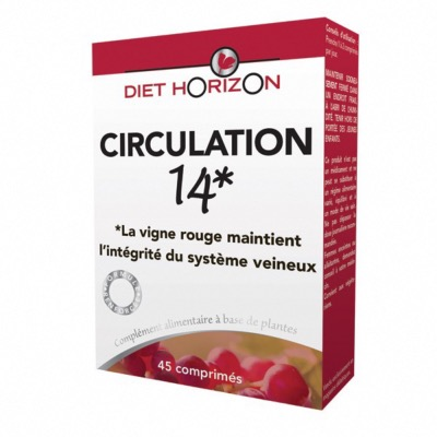 Circulation 14 - 45 comprimés - Diet Horizon
