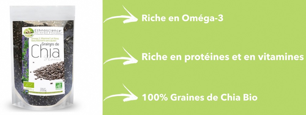100% Graines de chia superaliment bio